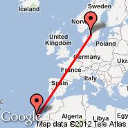 Gran Canaria (Gran Canaria International (Gando Airport), LPA) - Goteborg (Landvetter, GOT)