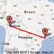 La Paz (El Alto, LPB) - Sao Paulo (Metropolitan Area, SAO)