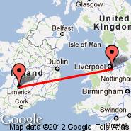 Liverpool (Liverpool John Lennon, LPL) - Limerick (LMK)