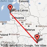 Liepaja (Liepaya, LPX) - Kijev (Zhulhany, IEV)