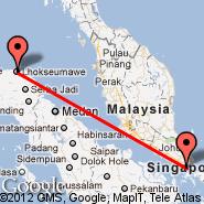 Lhokseumawe (Lhoksumawe, LSW) - Singapur (Changi, SIN)