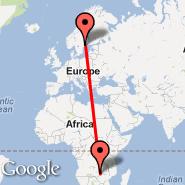 Lusaka (Lusaka International Airport, LUN) - Stockholm (Metropolitan Area, STO)