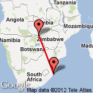 Livingstone (LVI) - Durban (Durban International, DUR)