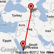 Gyoumri (Gyoumri, LWN) - Jeddah (King Abdulaziz International, JED)