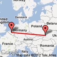 Lviv (Snilow, LWO) - Bruxelles (Brussels Airport, BRU)
