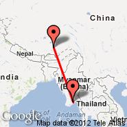 Lhasa (Gonggar/Lhasa, LXA) - Rangoon (Mingaladon, RGN)