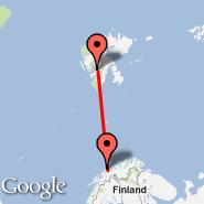 Longyearbyen (Svalbard, LYR) - Tromso (Tromso/langnes, TOS)