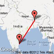 Chennai/Madras (Madras International, MAA) - Cooch Behar (COH)
