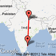 Chennai (Madras International, MAA) - Lucknow (Amausi, LKO)