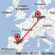 Madrid (Barajas, MAD) - Frankfurt (Frankfurt International Airport, FRA)