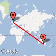 Manchester (Ringway International Airport, MAN) - Adelaide (Adelaide International Airport, ADL)