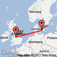 Manchester (Ringway International Airport, MAN) - Kopenhagen (Kastrup, CPH)
