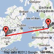 Manchester (Ringway International Airport, MAN) - Limerick (LMK)