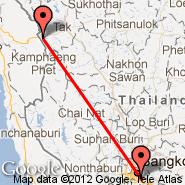 Mae Sot (MAQ) - Bangkok (Suvarnabhumi International, BKK)