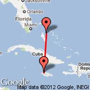 Montego Bay (Sangster International, MBJ) - Nassau (Nassau International, NAS)