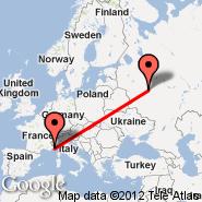 Monte Carlo (Fontvieille Heliport, MCM) - Moskva (Metropolitan Area, MOW)