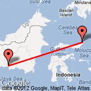 Manado (Samratulangi, MDC) - Pangkalan Bun (Pangkalanbuun, PKN)