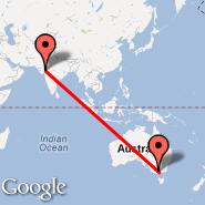 Melbourne (Tullamarine, MEL) - Ahmedabad (Sardar Vallabhbhai Patel International Airport, AMD)