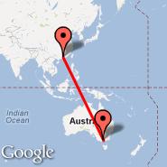 Melbourne (Tullamarine, MEL) - Guangzhou/Kanton (New Baiyun, CAN)