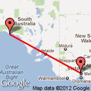 Melbourne (Tullamarine, MEL) - Cape Barren Island (CBI)