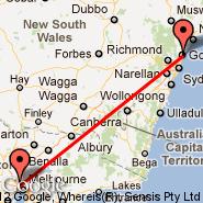 Melbourne (Tullamarine, MEL) - Gosford (GOS)