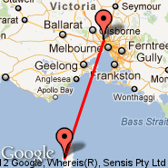 Melbourne (Tullamarine, MEL) - King Island (KNS)