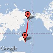 Melbourne (Tullamarine, MEL) - Petropavlovsk (Petropavlovsk-Kamchats, PKC)
