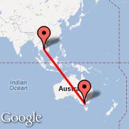 Melbourne (Tullamarine, MEL) - Siem Reap (Angkor International Airport, REP)