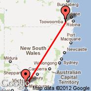 Melbourne (Tullamarine, MEL) - Warwick (WAZ)