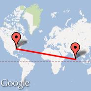 Memphis (Memphis International, MEM) - Colombo (Bandaranayake, CMB)