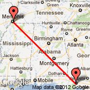 Memphis (Memphis International, MEM) - Tallahassee (Tallahassee Regional Airport, TLH)