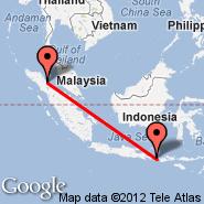 Medan (Polonia, MES) - Lombok/Mataram (Selaparang, AMI)