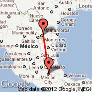 Mexico City (Internacional Benito Juarez, MEX) - Monterrey (Gen Mariano Escobedo, MTY)