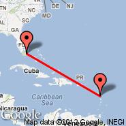 Miami (Miami International Airport, MIA) - Dominica (Melville Hall, DOM)
