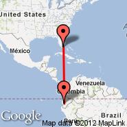 Miami (Miami International Airport, MIA) - Guayaquil (Simon Bolivar, GYE)