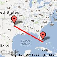 Miami (Miami International Airport, MIA) - Sherman/Denison (Grayson County, PNX)