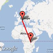 Milan (Metropolitan Area, MIL) - Kigali (Gregoire Kayibanda, KGL)
