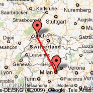 Milan (Metropolitan Area, MIL) - Basel Mulhouse Freiburg (EuroAirport, MLH)