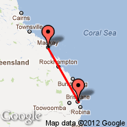 Mackay (MKY) - Brisbane (Brisbane International, BNE)