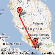 Malacca (Batu Berendam, MKZ) - Ipoh (Sultan Azlan Shah Airport, IPH)