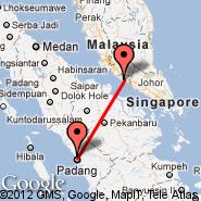 Malacca (Batu Berendam, MKZ) - Padang (Minangkabau International Airport, PDG)
