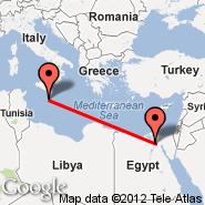 Malta (Malta International, MLA) - Kairo (Cairo International, CAI)