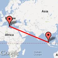 Malta (Malta International, MLA) - Kuala Lumpur (Kuala Lumpur International Airport, KUL)