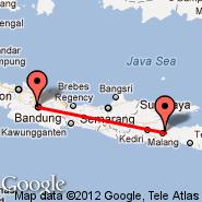 Malang (Abdul Rahman Saleh, MLG) - Bandung (Husein Sastranegara, BDO)