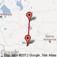 Moskva (Metropolitan Area, MOW) - Cherepovets (CEE)