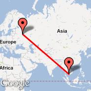 Moscow (Metropolitan Area, MOW) - Sihanoukville (Sihanoukville International Airport, KOS)