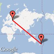Moskva (Metropolitan Area, MOW) - Wellington (Wellington International, WLG)