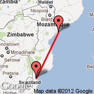 Maputo (Maputo International, MPM) - Chinde (INE)