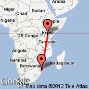 Maputo (Maputo International, MPM) - Nairobi (Jomo Kenyatta International, NBO)