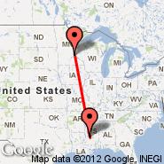 Minneapolis (Minneapolis - St. Paul Intl, MSP) - Jackson (Hawkins Field, HKS)